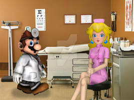 Dr. Mario and Nurse Peach by BradMan267