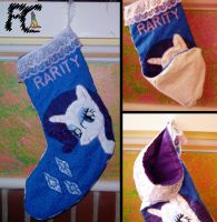 Rarity X-mas Stocking by kelseyleah