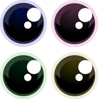 Stock Cute Eyes Vector by Piucca