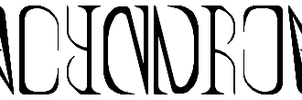 Palindrome Ambigram by Wooded-Wolf