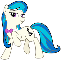 Octavia Melody with Dj Pon-3's colors by NeonLiberty