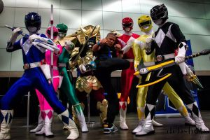 Mighty Morphin Power Rangers W Najee/Samurai Blue by icknaybob