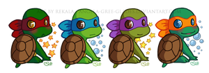 Cute Turtle Stickers by RekalaRain