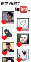 Meme - My top 10 Favourite Youtubers by JCMX