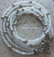 White Cloth Necklace by IdolRebel