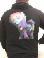 Shadowbolt Rainbow Dash Shirt By Sorenmaelstrom by JinYaranda