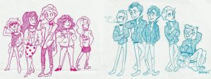 Klaine: Pink Ladies + Tbirds by Muchacha10
