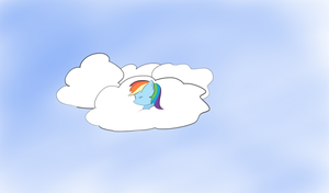 A dash in the clouds by OrangePoni