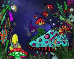 Alice and the caterpillar by tinilla