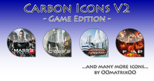Carbon Icons V2 - Game Edition by OOmatrixOO