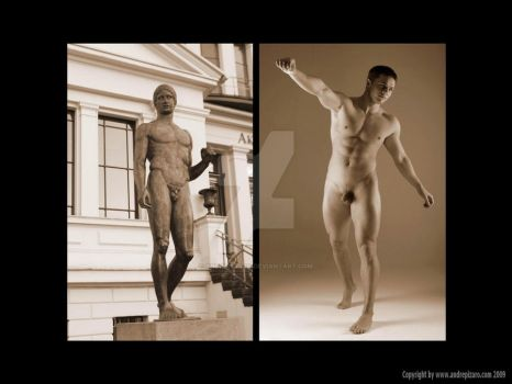 Statue and Male Nude by AndrePizaro
