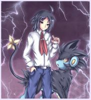 Cheren and Luxray
