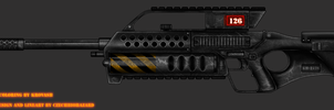 Collab: Fictional Firearm: KH-2126 LMG by CzechBiohazard