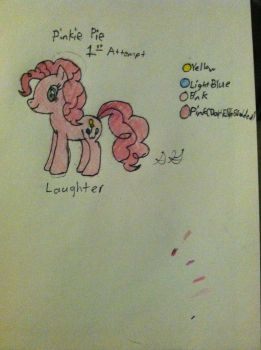 Pinkie Pie 1st Attempt by Gabe9988