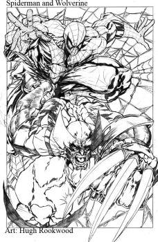 Spiderman and Wolverine by Chozenstudios