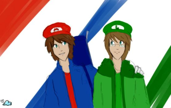 Here the story begins- Mario and Luigi (chapter 1) by skyLoveness