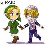 Commission: Link x Sheik by Z-Raid