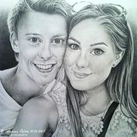 Drawing - A couple. by MarinaPalme