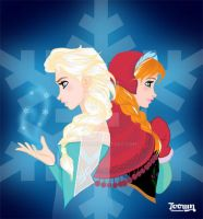 Queen Elsa and Princess Anna prt 2 by toown
