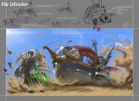 Sand Pirate Vessel (the intruder). by danihell-lima