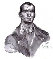 Christopher Eccleston as the Doctor by chelsea-the-tomboy