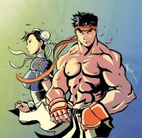 Street Fighter Sketch by badokami