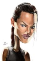 Caricature of Angelina Jolie by cheatingly