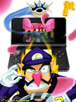 Mario Kart 3DS 3D on by Hugo-H2P