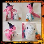 Mummy and Baby Dragons Trick or Treating by Amaze-ingHats