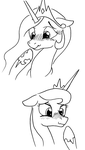 Expression Challenge: Blushing/Embarrassed by ArrJaySketch
