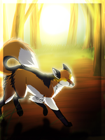 Sun forest by Wolfunny