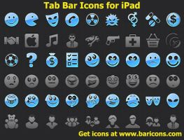 Tab Bar Icons for iPad by shockvideoee