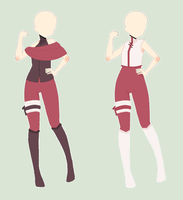 Naruto Outfits Adoptables(all sold) by Hearty-Chann