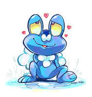 Froakie Frog by super-tuler