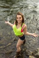 Katelyn in the Creek 2 by AlaskaPhotoSports