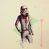 Stormtrooper in a Suit by LordColinOneal