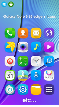 Galaxy Note 5 S6 edge + icons by sihunejoa by sihunejoa