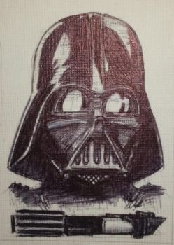 Card Vader by lovalleart