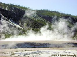 Excelsior Geyser Yellowstone National Park Wyoming by MSchmidtPhotography