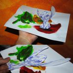 Stich sitting on some Paint - Anamorph by chillerofhell