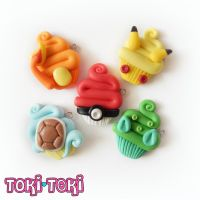 Pokemon Cupcake Charm Necklaces by MadeByTokiToki