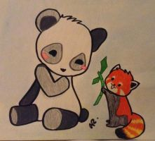 Panda Love by professor-mooney13