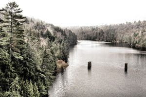 Madawaska River:  Abutments II by basseca