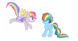 Dimmer and Rainbow Dash mane swap by Fluffomaru