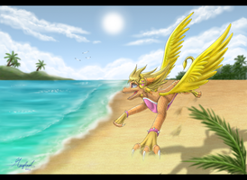 .:Beach running:. by Rorita-Sakura