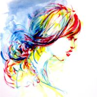 Hair 2015 Watercolorpainting by Manabu-Sawada