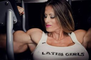 Latin muscle girl by Turbo99
