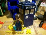 Lego Doctor and his TARDIS by ODSTtamer501