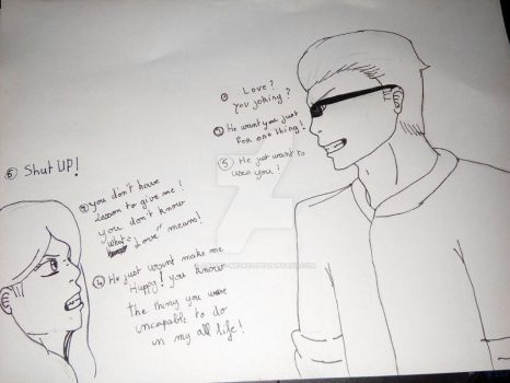 [OC SP]A discution  between  Daughter and Father by Ariane-Wesker