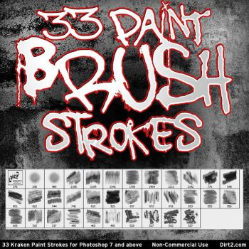 33 Paint Stroke Brushes PS7+ by KeepWaiting